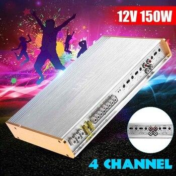 DC 12V 4 canales Clase AB AMPLIFICADOR DE POTENCIA DE COCHE puente conexión bajo Audio