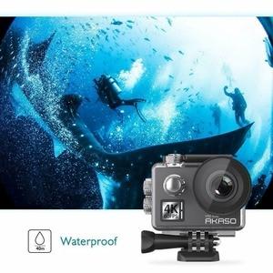 Image 3 - كاميرا AKASO V50 Elite 4 K/60fps تعمل باللمس تعمل بالواي فاي وتحكم في الصوت كاميرا EIS 40m مقاومة للماء كاميرا رياضية مع خوذة