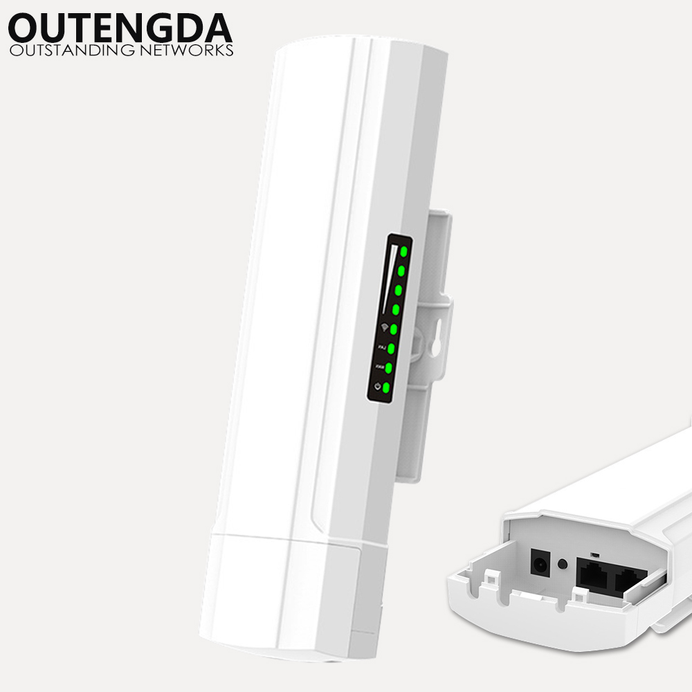 OUTENGDA 450Mbps 3Km Outdoor CPE AP 5.8Ghz WiFi Bridge Router Wireless Wi-fi Repeater Built-in 14dBi Antenna with Poe Adapter цена