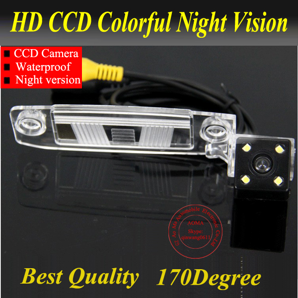 Kamera pro zadní pohled kamery se 4 LED HD CCD kamerou pro KIA Sportage R 2011-2012 / K3