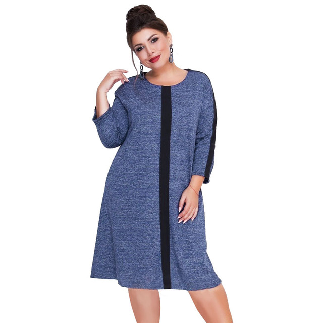 f7dc4d8bfb9 Knitted Women Dress Plus Size Winter Dress Female Christmas Party Dress  Flare Large Casual Sweater Dress 5XL 6XL Robe Femme 2018