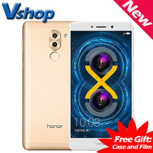 In Stock Huawei Honor 6X 4G Mobile Phone Android 6.0 Octa Core 2.1GHz ROM 32GB/64GB RAM 4GB 3 Camera Dual SIM Smartphone