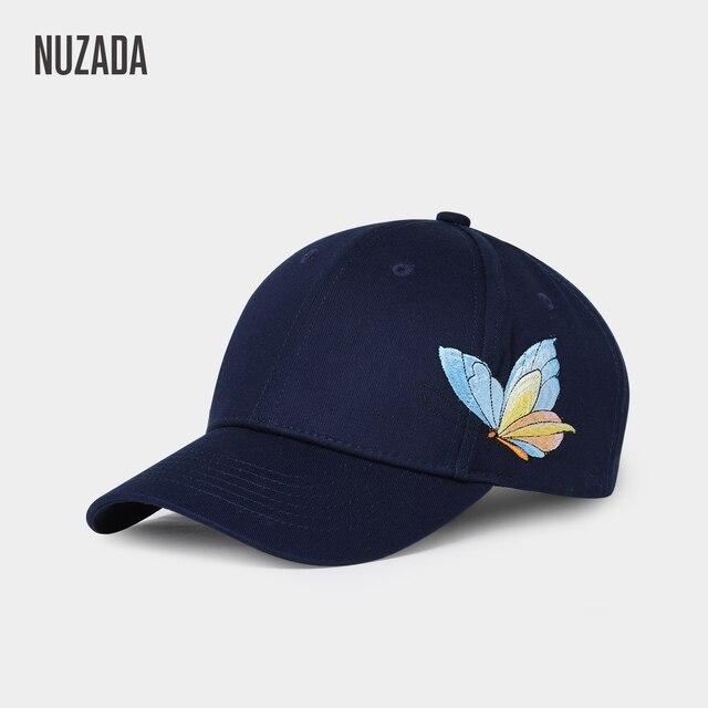 NUZADA Bone gorras bordado mariposa mujeres pareja gorra de béisbol  Snapback algodón Primavera Verano otoño doble 6bcb318f207