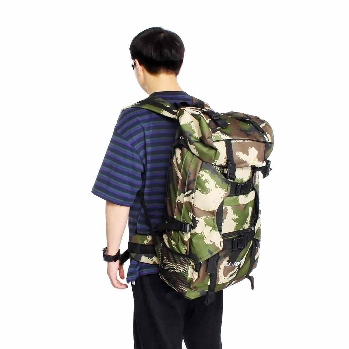 New Army Military Style Hiking Outdoor Backpack Rucksack Daypack camouflage 120L