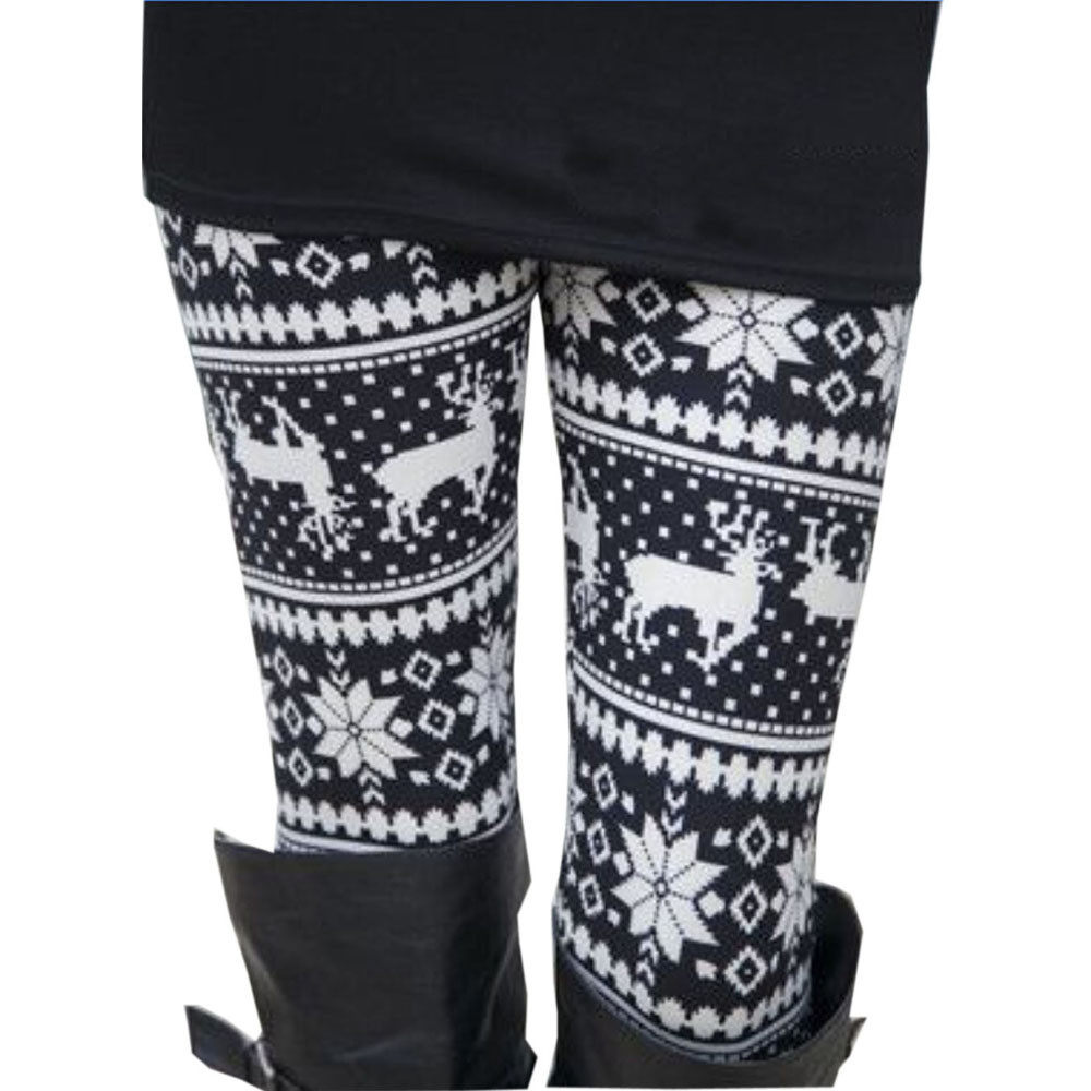 2017 Hot Vrouwen Herfst Winter Warm Leggings Fashion Kerst Gedrukt Hoge Elastische Skinny Leggings Broek Broek Voor Lady Meisjes Matching In Kleur