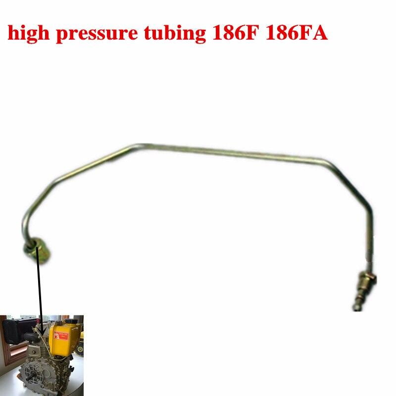 2 pièces de tubes haute pression pour générateur Diesel 5KW, 186F 186FA accessoires de moteur diesel