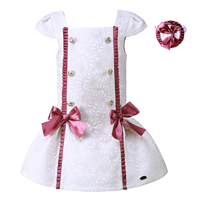 b2055d9c0ca4e US $59.98 |Aliexpress.com : Buy Pettigirl 2019 Summer White Girl Dress With  Purple Bows With Buckle Children Dress Cotton Boutique Kids Clothing G ...