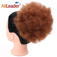 Alileader Synthetic Fiber Draw String Hair Buns For Women Short Hair Chignon Accessories Afro Kinky Curly Clip In Hair Buns(China)