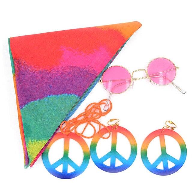 هالوين زي حزب بارد الهبي مجموعة الأطفال النظارات الشمسية قلادة عقال كيت ل حزب الديكور