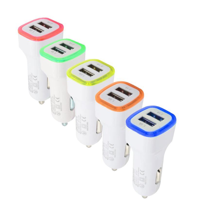 Авто-укладки 3.1A светодиодный USB двойной 2 Порты и разъёмы Разъем Адаптера автомобиля Зарядное устройство для iPhone/samsung/htc 2018 Горячие Aux авто-ук... ...