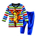 Children Pajamas Boy's Cotton Nightwear Cartoon colour tigger winter Loungewear Kids Boys Homewear  Autumn baby Sleepwear P052