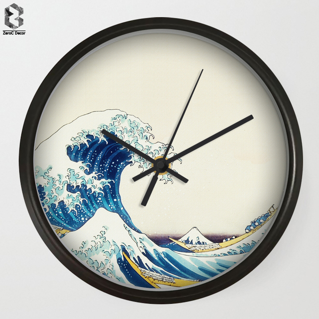 US $19 08 28% OFF|Modern Art Wall Clocks Japanese Painting For Living Room  Wall Decor, Desk Decorative Mute Quartz Clock Nordic Home Decoration-in