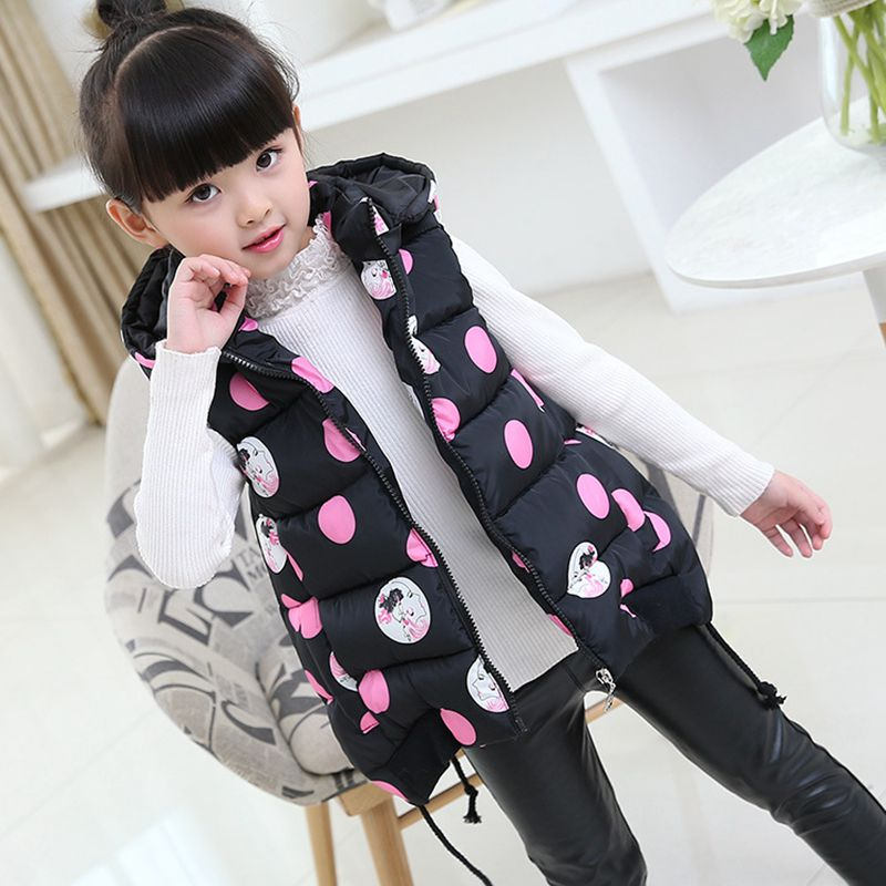 Kids Waistcoats Children Baby Girl Vest Jacket 2018 Winter Autumn Vest For Girls Outerwear Coats Teen 6 8 10 12 14 Years TZ282 цена 2017