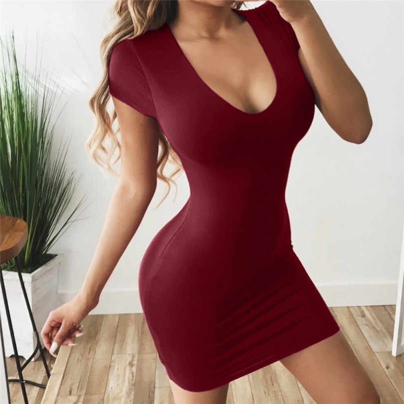 MIARHB Womens Dress Vestido Short Sleeve Slim Bodycon Dress Tunic Crew Neck Casual Pencil Dress New Arrival A30