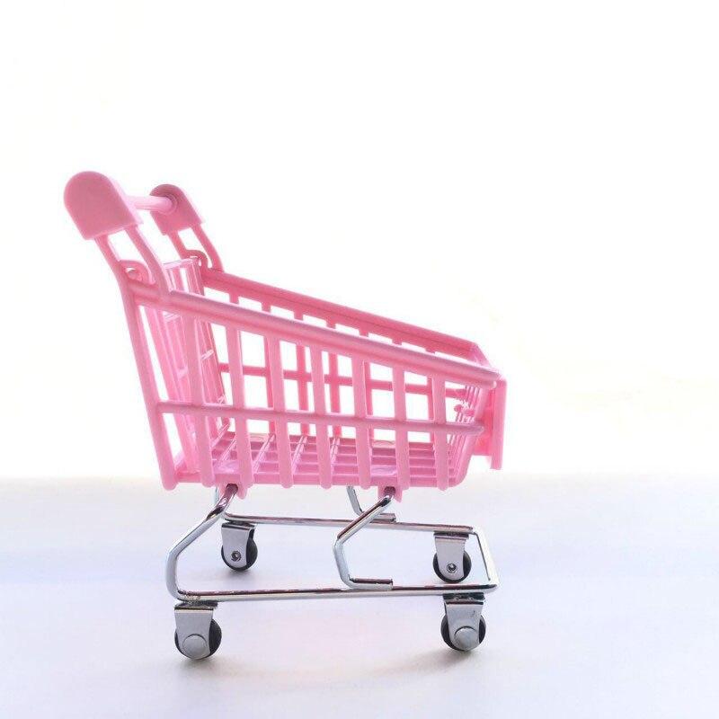 6e5247ec0 120pcs Cute Cart Mobile Phone Holder Pen Holder Mini Supermarket Office  Handcart Shopping Utility Cart Storage Basket ZA6217