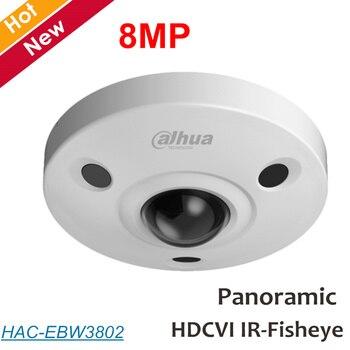 Dahua 8mp 파노라마 fisheye 카메라 hdcvi 카메라 내장 마이크 방수 ip67 동축 카메라 보안 카메라 HAC-EBW3802