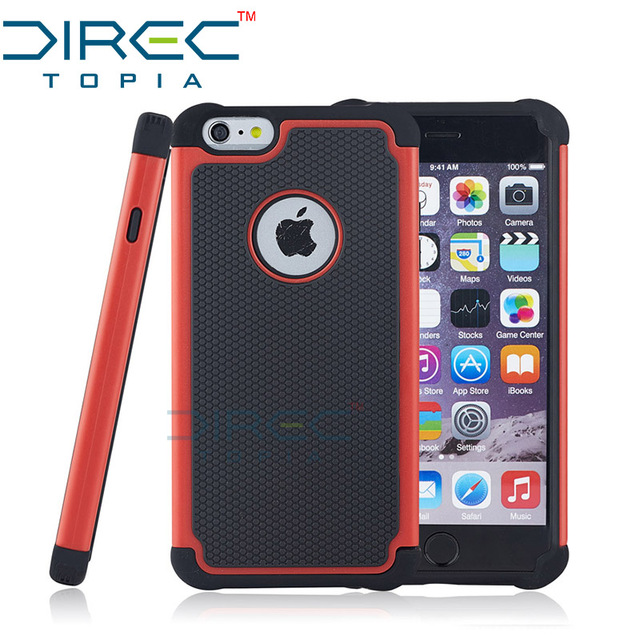 low priced b190f 1016b US $2.99  DIRECTopia Fashion Luxury Dual Layer Rugged Shockproof Airbag  Rubber Thick Hard Cover Phone Case for Apple iPhone 6 6s Plus Case-in  Fitted ...