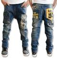 2016 New Casual kids boy jeans Children Pants Letter Print Design Boys Jeans Autumn Kids Trousers Children Clothing Kids Clothes
