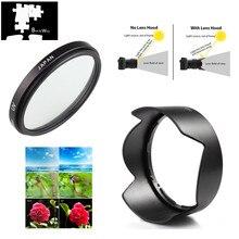 67mm UV Filter Lens Hood for Nikon 18 140 18 135 18 105 18 70 lens D7500 D7100 D7200 D5600 D5500 D5300 D3400 D3300 D750 D850 D90