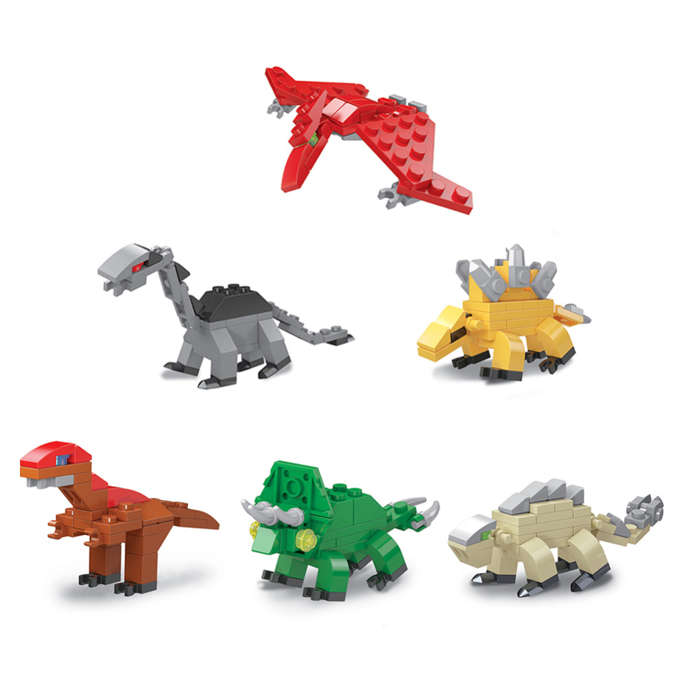 6 In 1 Plastic Puzzles Baby Montessori Toys Assembly Deformation Eggs Dinosaur Puzzle Toys For Children Funny Toy 6pcs/set