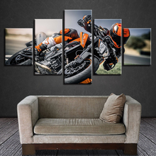 Modular Framework Painting HD Printing Modern 5 Pieces Motorcycle Riders Canvas Pictures Posters Art Living Room Wall Decoration