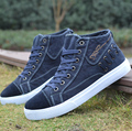 2015 men's summer casual shoes male the trend of  board shoes breathable high canvas shoes
