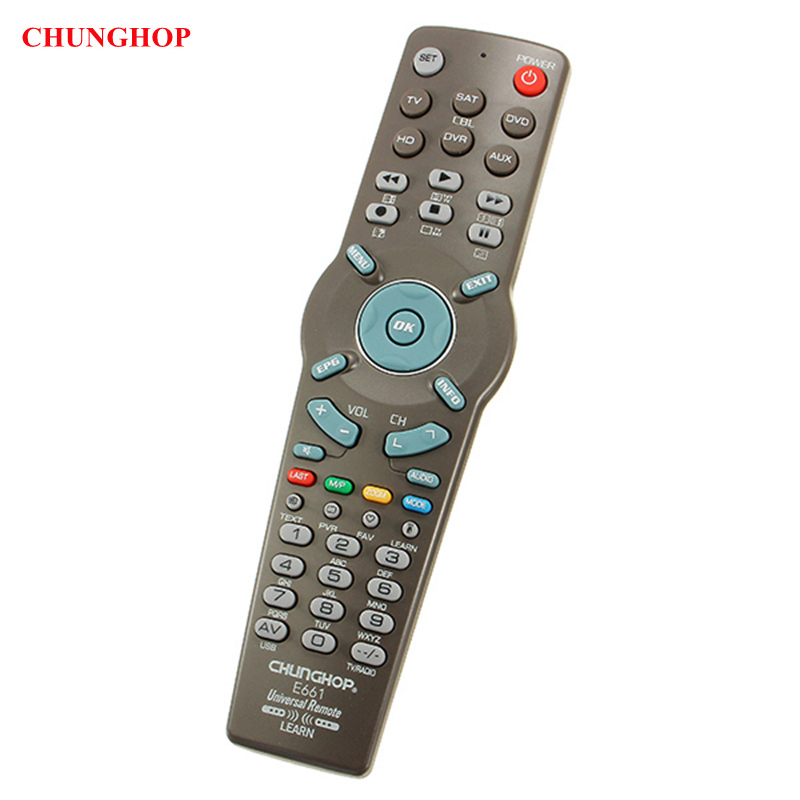 CHUNGHOP E661 6 In1 Replacement Remote Control Universal Learning For TV CBL DVD AUX SAT AUD