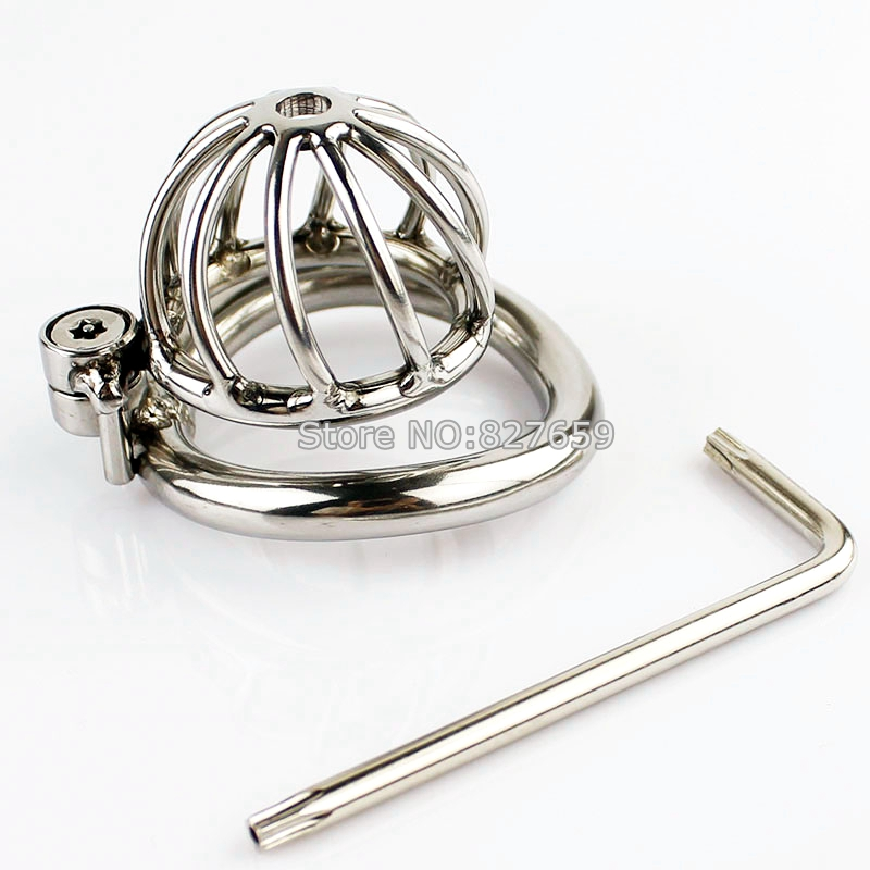 Unique Design Male Chastity Device Stainless Steel Chastity Cage With Arc-Shaped Cock Ring Penis Ring Sex Toys Men stainless steel small male chastity belt adult cock cage with arc shaped cock ring sex toys for men chastity device