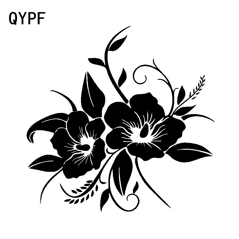QYPF 15.8cm*15.9cm Tender And Beautiful In Full Bloom Flower Vinyl Decal Delicate Car Sticker  Design C18-0584QYPF 15.8cm*15.9cm Tender And Beautiful In Full Bloom Flower Vinyl Decal Delicate Car Sticker  Design C18-0584