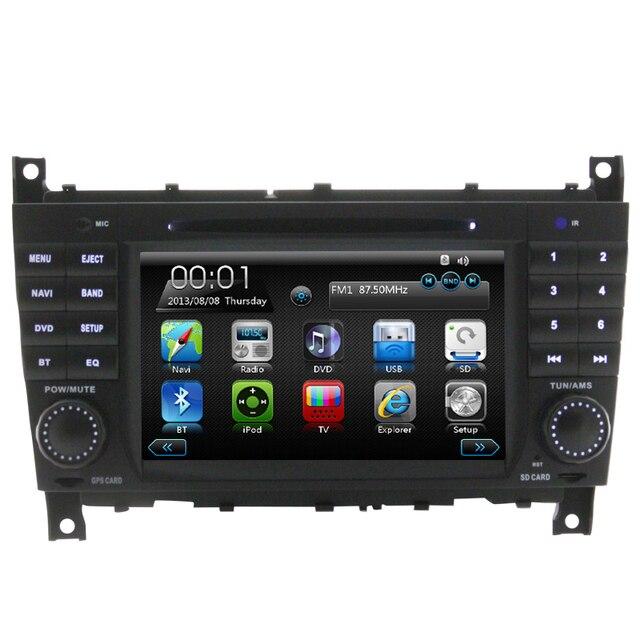 Wince6.0 Coche Reproductor de DVD Bluetooth RDS Para Mercedes W203 con Libre mapa GPS Navigaiton Radio stereo Pantalla Táctil de Vídeo dashboard