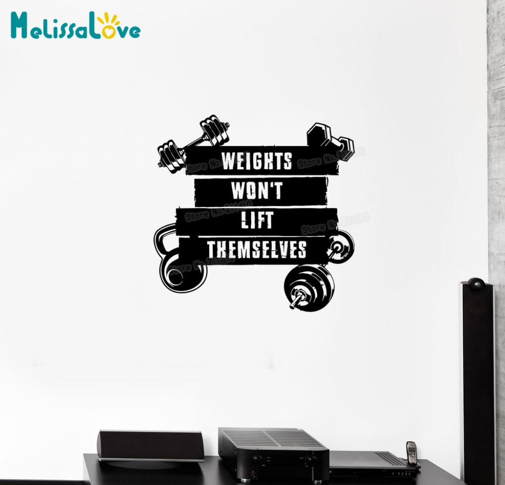 New Design Wall Decal Sports Fitness Training Motivation CrossFit Gym Vinyl Sticker Home Decor Living Room Art Unique Gift YY750