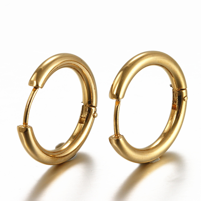 Aliexpress Boniskiss Hoop Men Earrings Brand Earring Gold Color Stainless Steel Elegant For Women Jewelry Penntes Mujer Moda From