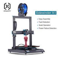 2019 Yeni Topçu Sidewinder X1 3D Yazıcı Ultra sessiz Sürücü tft dokunmatik ekran Çift Z eksen Devam 3d baskı yazıcı usb