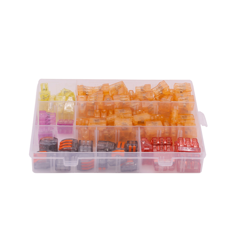 110Pcs/box Assorted Connectors Terminals Seven in One Set Insulation Shell Screw Terminals cookery postcards 100 cookbook covers in one box