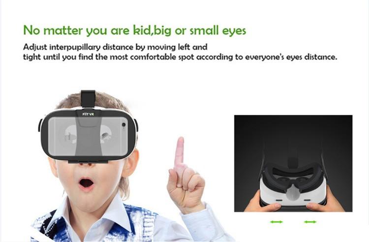 FIIT VR 3D Virtual Reality Video Helmet Cardboard 2.0 VR Glasses Box for 4.0-6.5 inch Smartphone Lightweight Ergonomic Design (13)