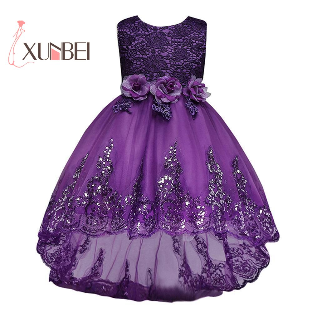 Candy Colors Cute   Girls   Pageant   Dress   Princess Cheap Lace   Flower     Girl     Dresses   Sequin Bow Bridesmaid Wedding Party   Dresses