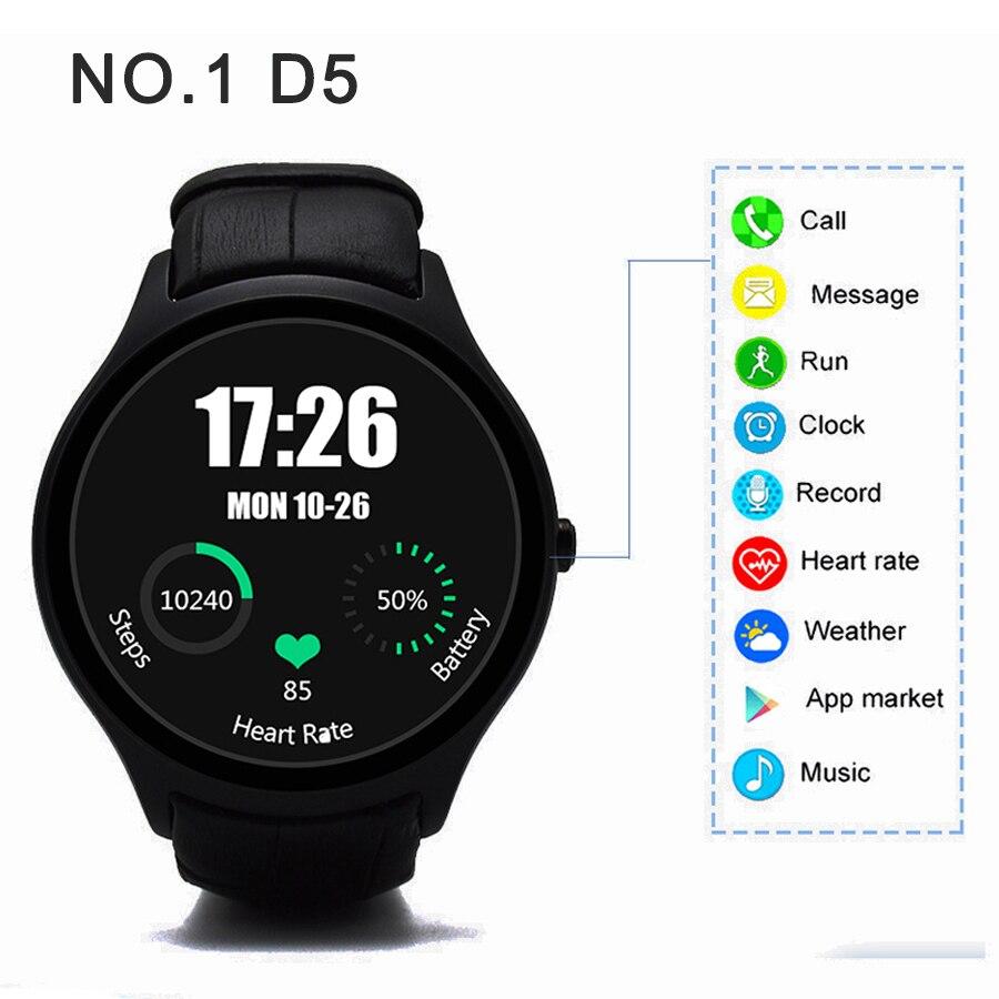 NO 1 D5 Smart Watch Bluetooth 4 0 font b smartwatch b font with Wifi GPS