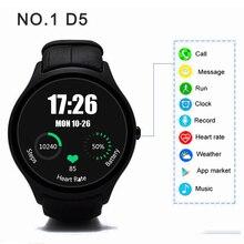 NO. 1 D5 Smart Uhr Bluetooth 4,0 smartwatch mit Wifi GPS Schrittzähler Heart Monitor 512 MB + 4 GB Smartwatch für Android iOS uhren