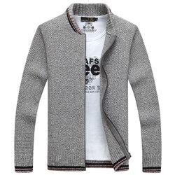 Nianjeep cardigan cotton men brand clothing zipper fashion winter jacket striped stand collar sweater men a3359.jpg 250x250