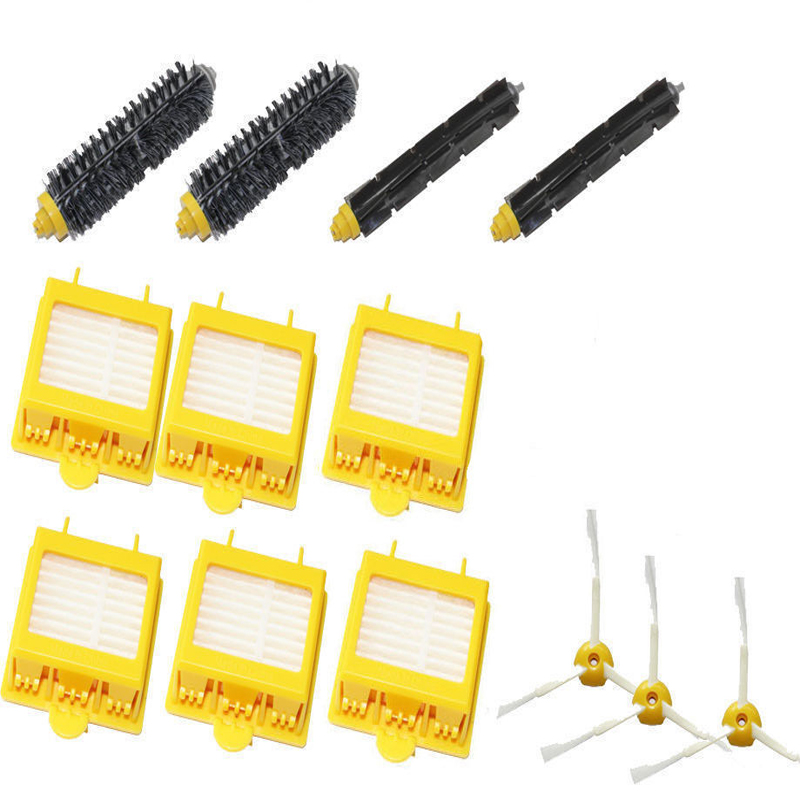 13PC New Filters & Brush 3-armed Side Kit for iRobot Roomba 700 Series 760 770 780 стоимость