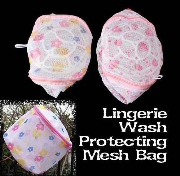 Fashion Hot Women Hosiery Bra Washing Lingerie Wash Protecting Mesh Bag Aid Laundry