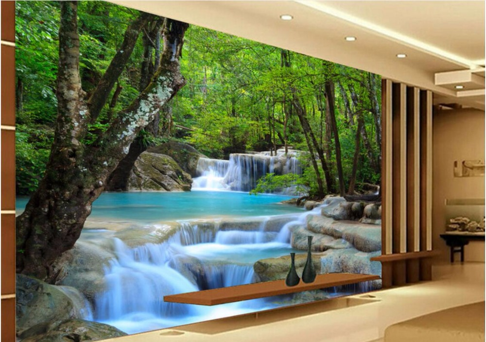 Custom Mural Photo 3d Room Wallpaper Jungle River Falls