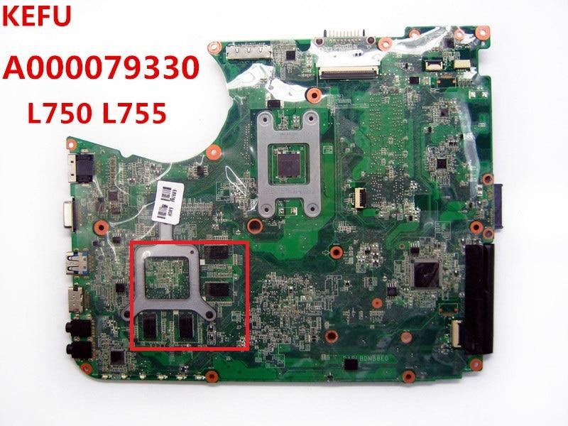 KEFU A000079330 for TOSHIBA L750 L755 series Laptop Motherboard DABLBDMB8E0 100 working