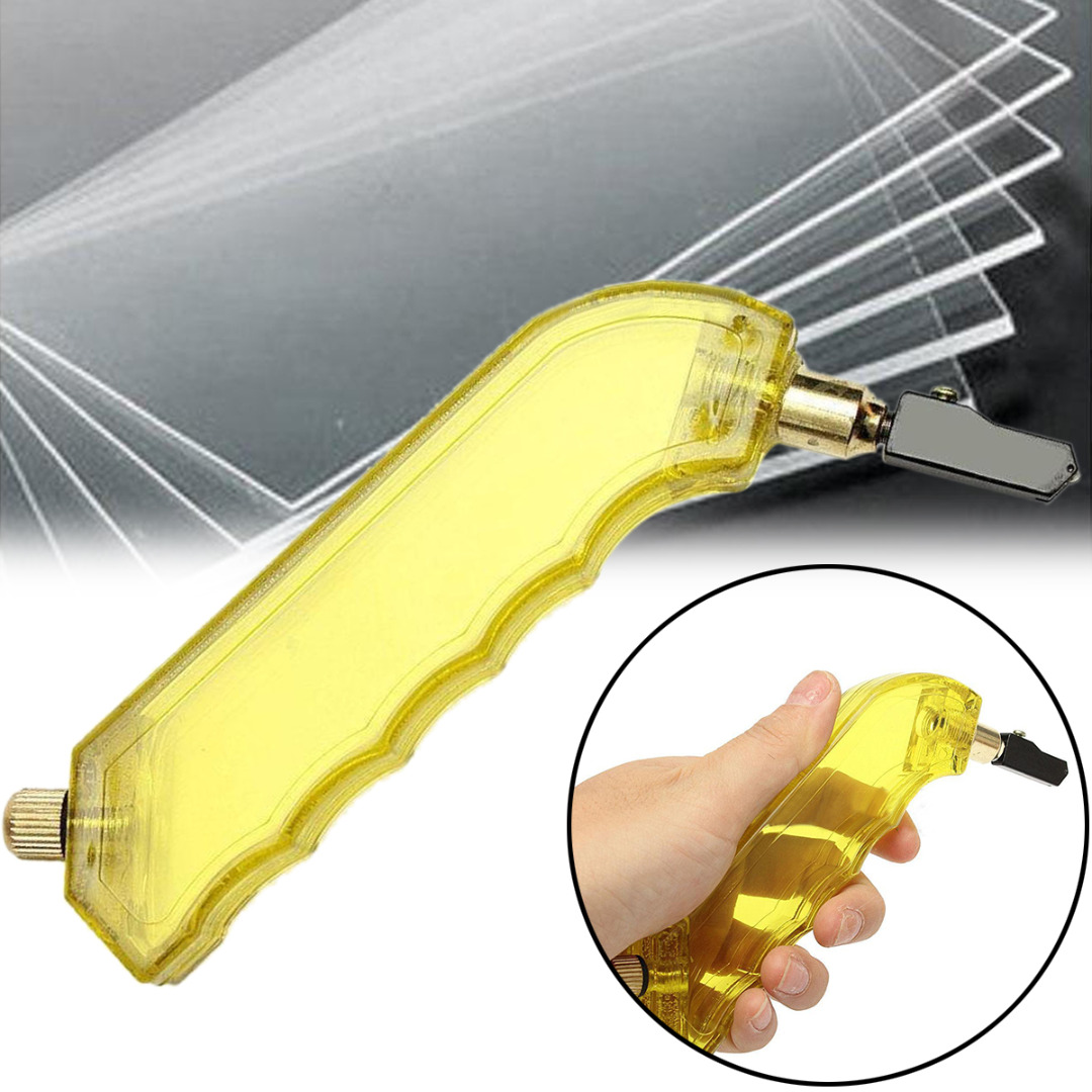1pcs New Pistol Grip Stained Oil Glass Cutter Tungsten Carbide With Dropper Tool