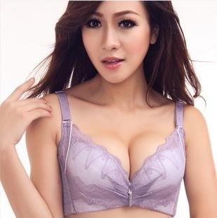 Underwear conjunto de sutiã Sexy confortável respirável sutiã V profundo DiaoZhengXing vice leite xícara B