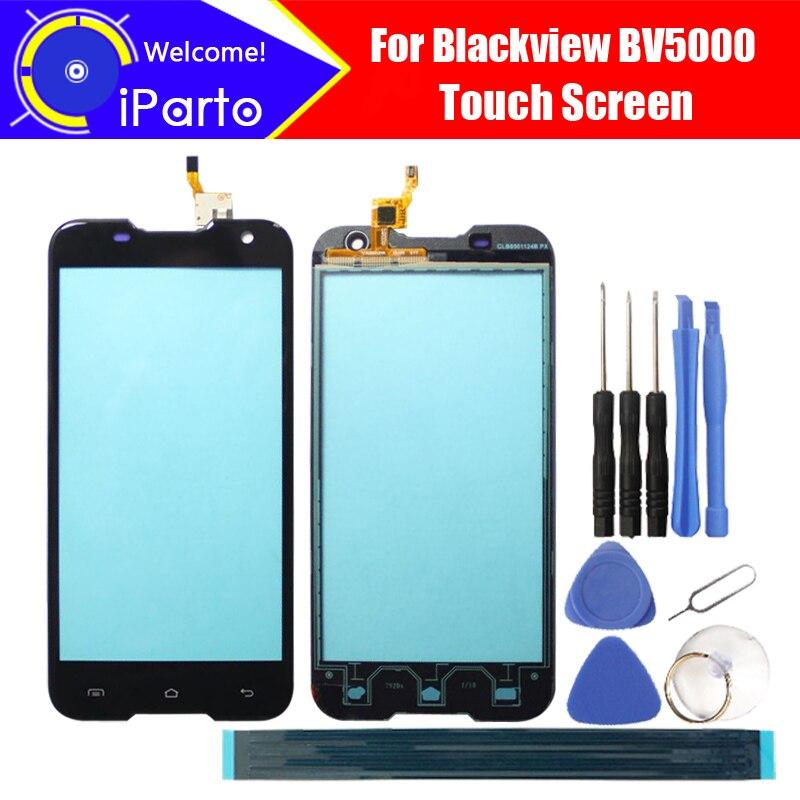 5.0 pouce Blackview BV5000 Écran Tactile En Verre 100% Garantie D'origine Nouveau Panneau de Verre Écran Tactile Pour BV5000 + outils + adhésif