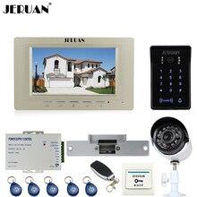 "JERUAN 7"" Video DoorPhone intercom System kit waterproof Password keyboard Access IR Night vision Camera + 700TVL Analog Camera"