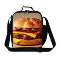 Dispalang hamburguesa diseño niños bolsas de almuerzo aislada viajes picnic envase de alimento a prueba de agua termal de las mujeres caja de almuerzo escolar