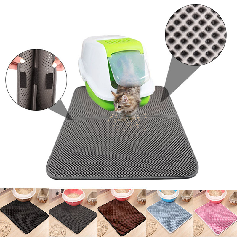 Cat Litter Mat Pet Carpet Cat Sand Cat Toilet Mat Cats Waterproof Mats for Pets Cats Trapper Foldable EVA Non-slip Mats Pad