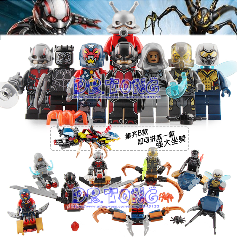 DR.TONG 80PCS/LOT Marvel Super Heroes Ant-Man The Wasp 8-in-1 Flying Ant Ghost Building Blocks Gifts Toys for Children SY1123DR.TONG 80PCS/LOT Marvel Super Heroes Ant-Man The Wasp 8-in-1 Flying Ant Ghost Building Blocks Gifts Toys for Children SY1123